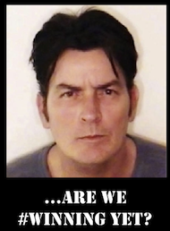 charlie sheen winning mug shot