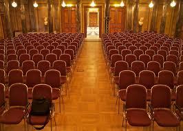 public speaking empty chairs