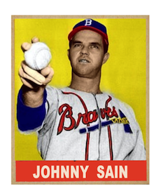 Johnny Sain Boston Braves